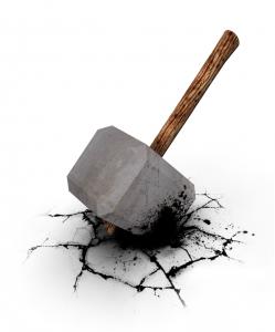 a concrete hammer